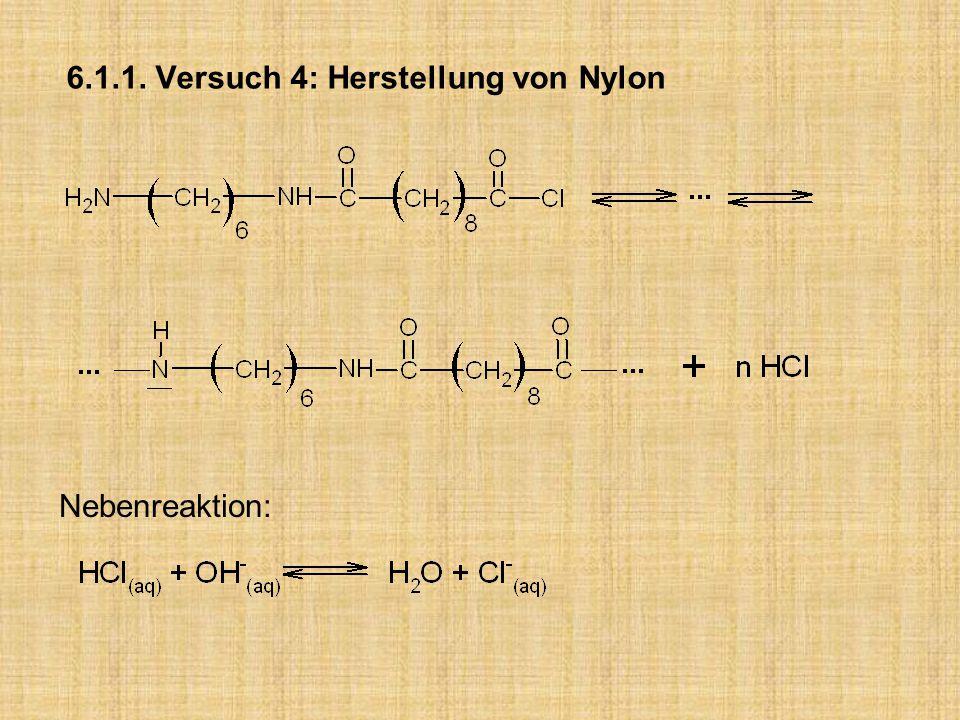 6.1.1. Versuch 4: Herstellung von Nylon Nebenreaktion: