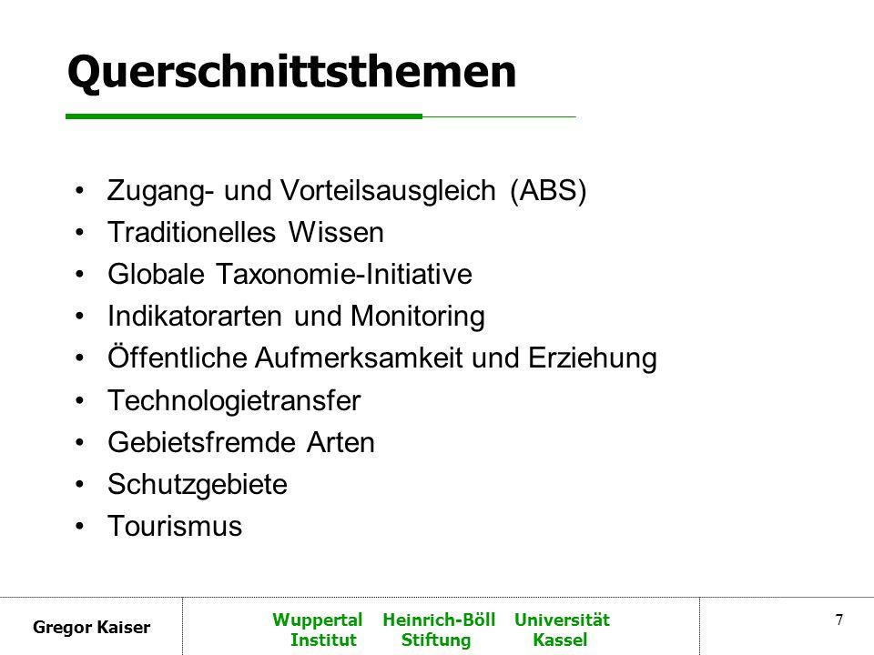 Gregor Kaiser Wuppertal Heinrich-Böll Universität Institut Stiftung Kassel 8 Artikel 6.