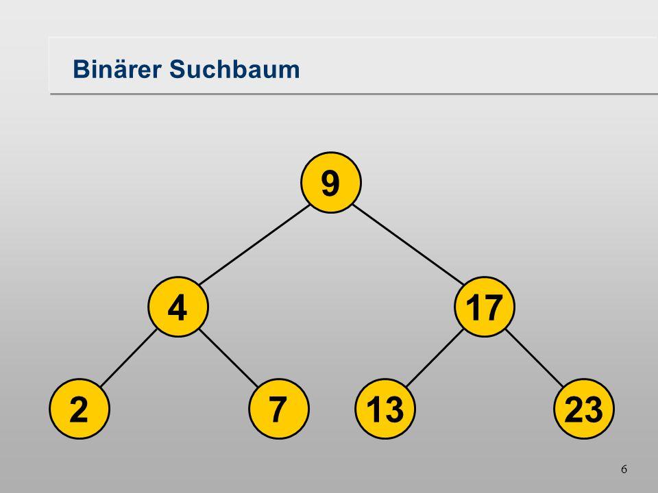 6 723213 174 9 Binärer Suchbaum