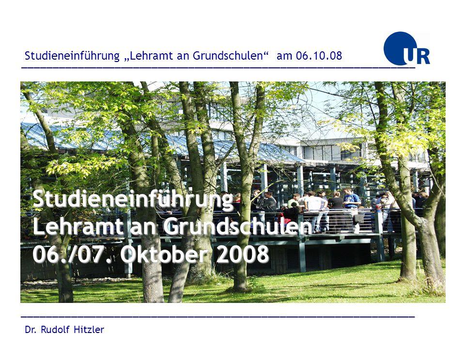"""________________________________________________________________ Dr. Rudolf Hitzler Studieneinführung """"Lehramt an Grundschulen"""" am 06.10.08 __________"""