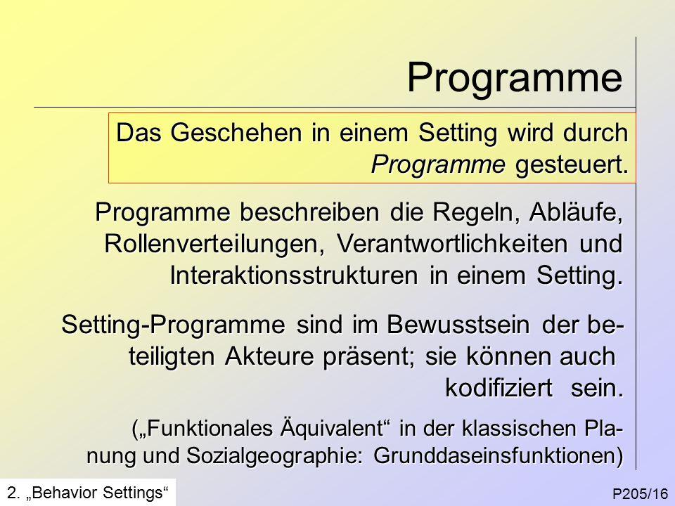 Programme P205/16 2.