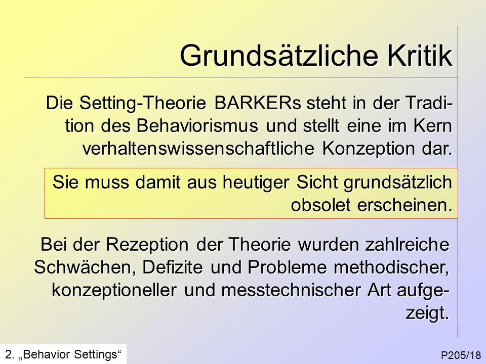 Grundsätzliche Kritik P205/18 2.