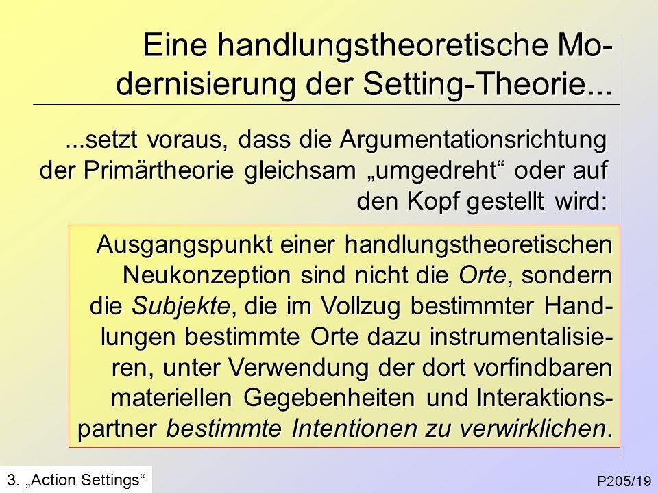 Eine handlungstheoretische Mo- dernisierung der Setting-Theorie...