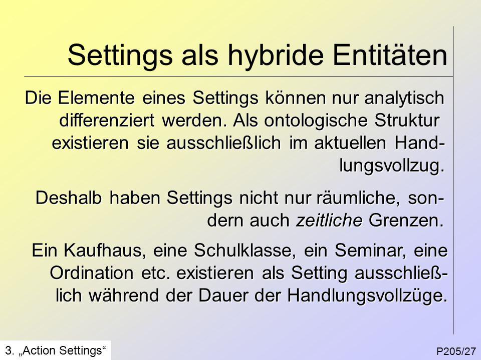 Settings als hybride Entitäten P205/27 3.
