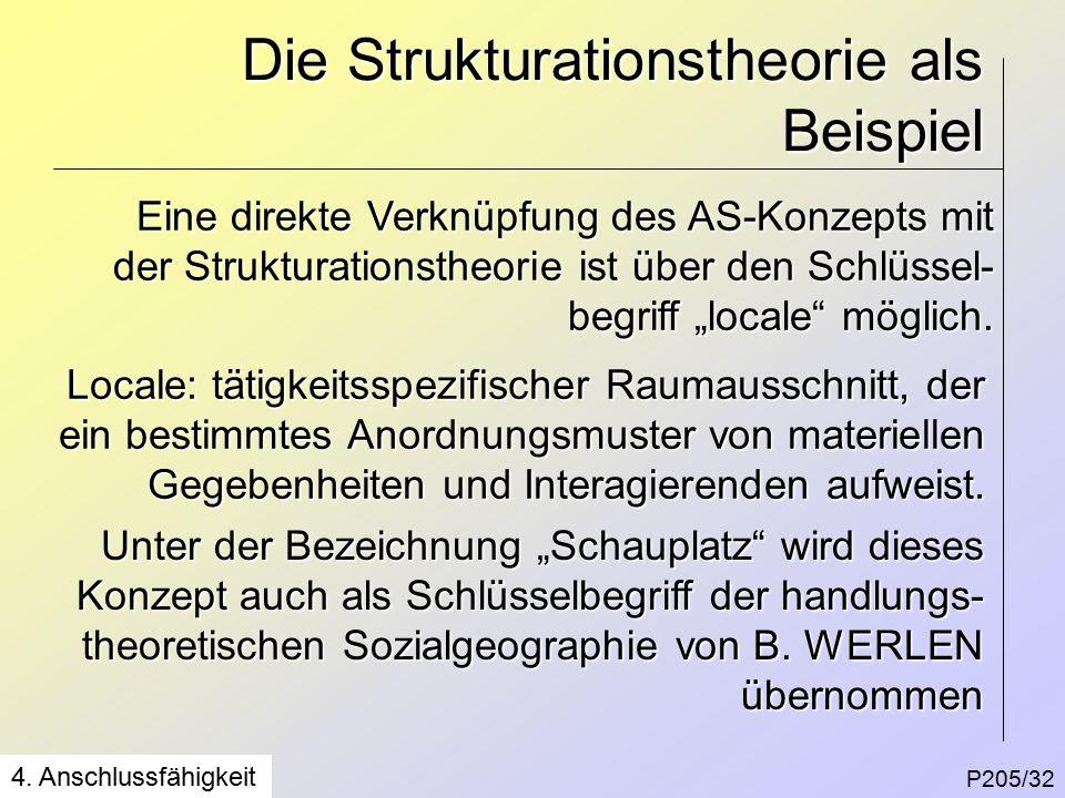 Die Strukturationstheorie als Beispiel P205/32 4.