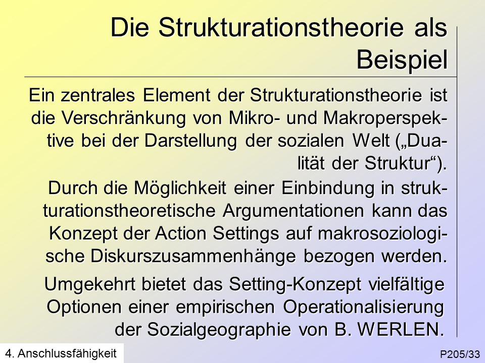 Die Strukturationstheorie als Beispiel P205/33 4.