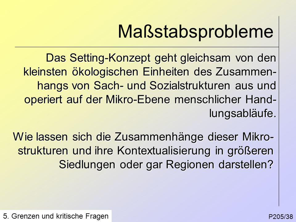 Maßstabsprobleme P205/38 5.