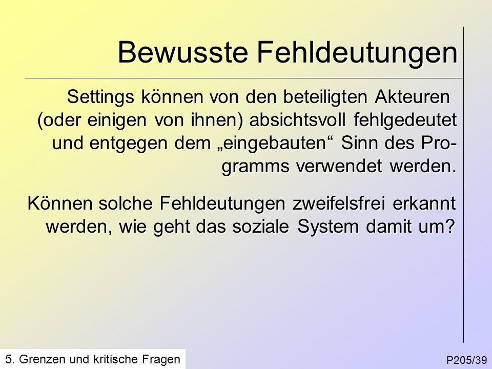 Bewusste Fehldeutungen P205/39 5.