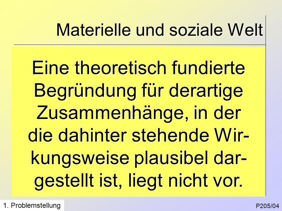 Materielle und soziale Welt P205/04 1.