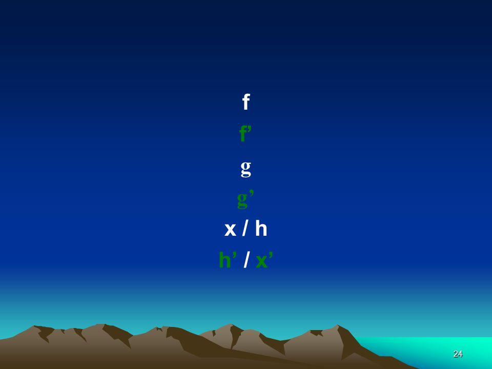 24 f f' g g' x / h h' / x'