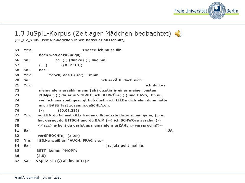 Frankfurt am Main, 14. Juni 2010 1.3 JuSpiL-Korpus (Zeltlager Mädchen beobachtet) [31_07_2005 zelt 6 maedchen innen betreuer ausschnitt] 64Ym: ich mus