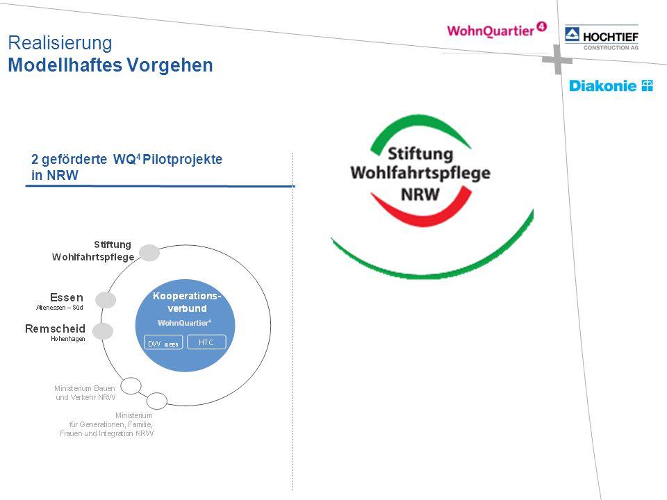2 geförderte WQ 4 Pilotprojekte in NRW Realisierung Modellhaftes Vorgehen