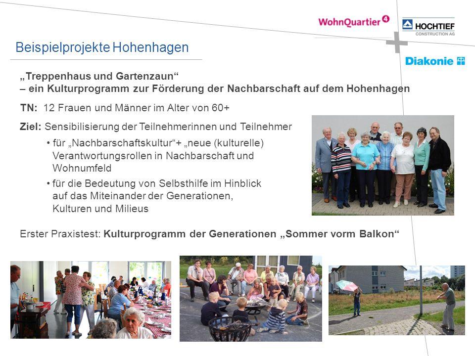 """""""Treppenhaus und Gartenzaun"""" – ein Kulturprogramm zur Förderung der Nachbarschaft auf dem Hohenhagen TN: 12 Frauen und Männer im Alter von 60+ Ziel: S"""