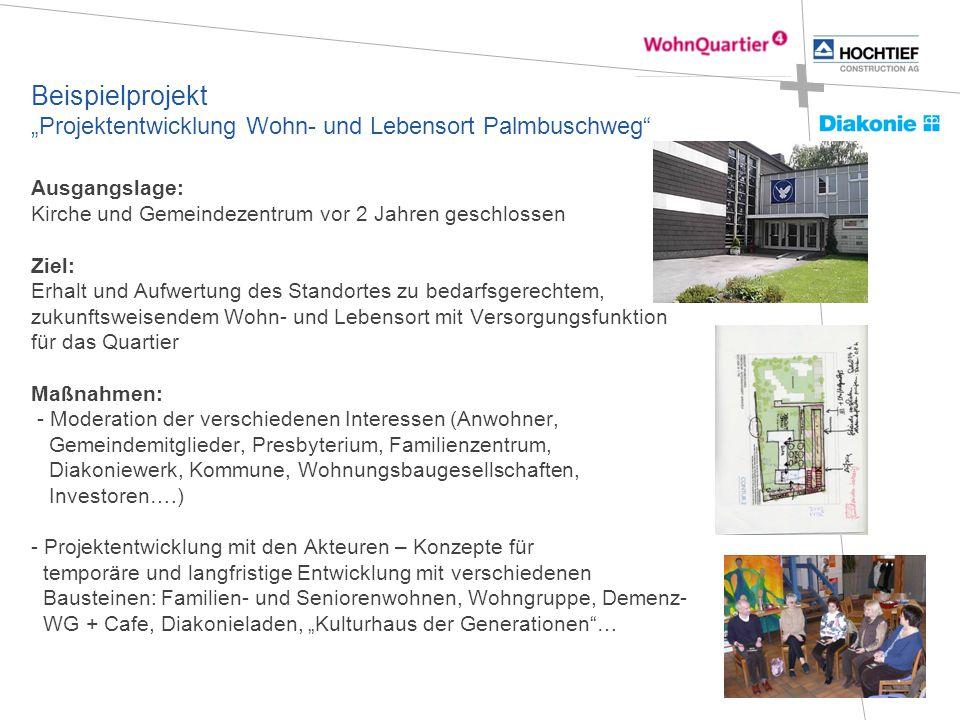 """Beispielprojekt """"Projektentwicklung Wohn- und Lebensort Palmbuschweg"""" Ausgangslage: Kirche und Gemeindezentrum vor 2 Jahren geschlossen Ziel: Erhalt u"""