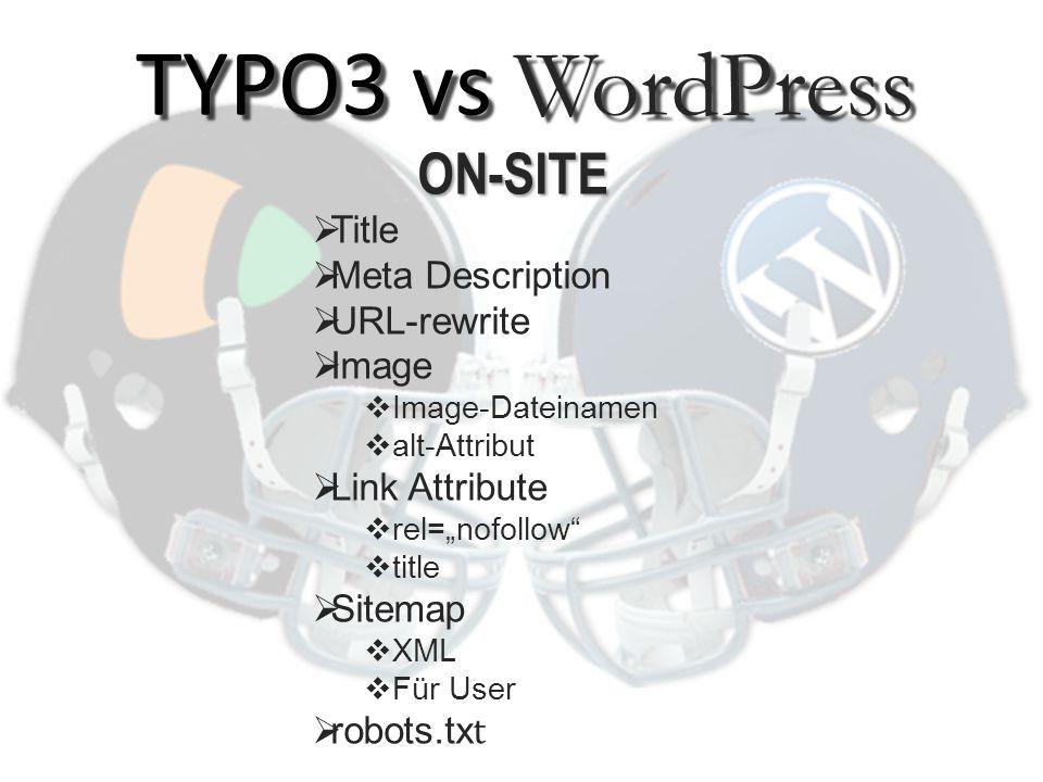 TYPO3:  Nein WordPress: Plugin (needs update!)