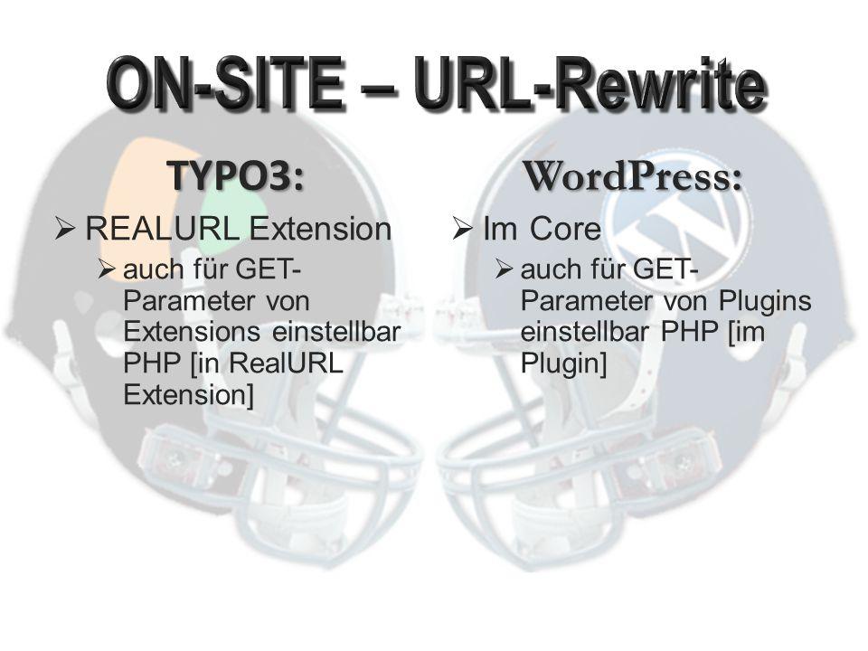 TYPO3:  Sehr aufwändig WordPress:  Grundsätzlich mit ein paar Klicks erledigt