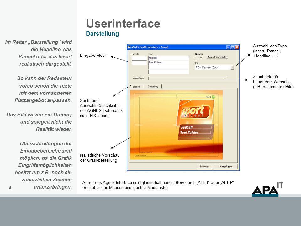 """5 Userinterface Suche Im Reiter """"Suche kann eine Suche innerhalb der vordefinierten Grafiken in Agnes durchgeführt werden."""