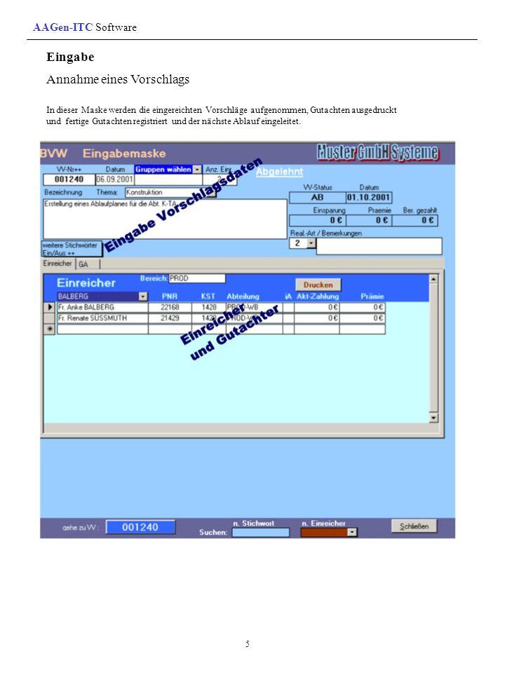 Die Entscheidungsformulare (Register) Besprechungsformulare: Dieses Formular gibt die Entscheidungen als Liste aus.