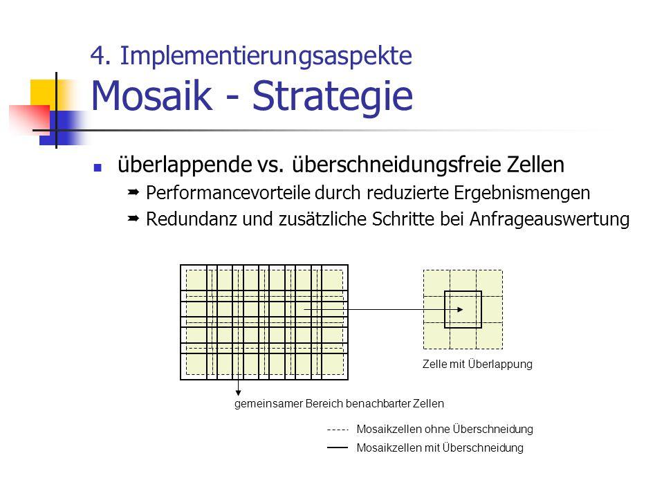 4.Implementierungsaspekte Mosaik - Strategie überlappende vs.