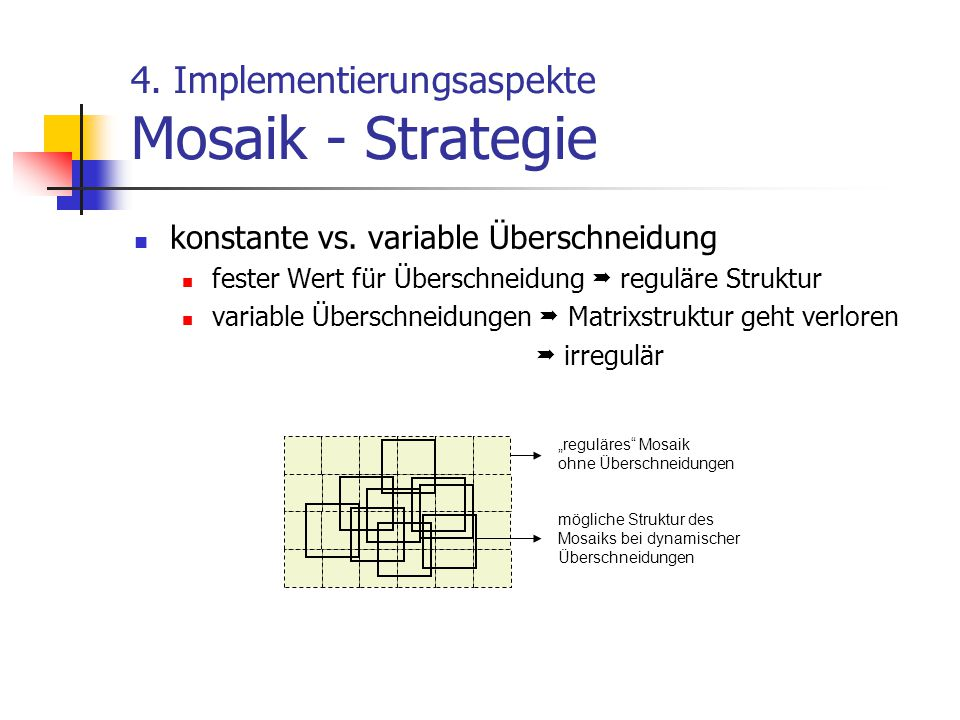 4.Implementierungsaspekte Mosaik - Strategie konstante vs.