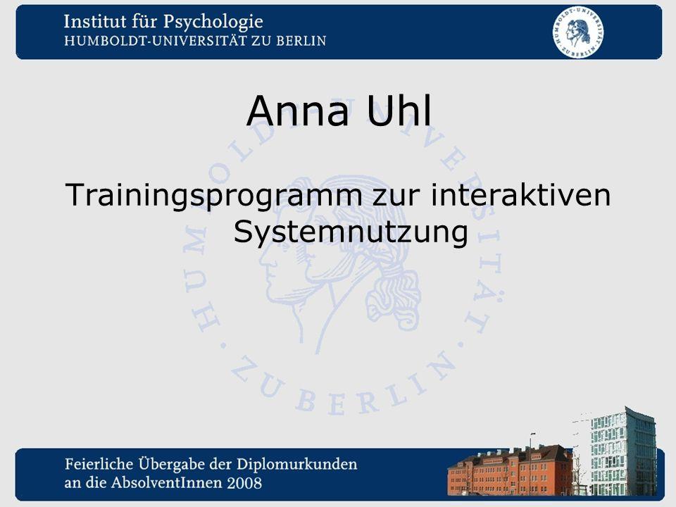 Anna Uhl Trainingsprogramm zur interaktiven Systemnutzung