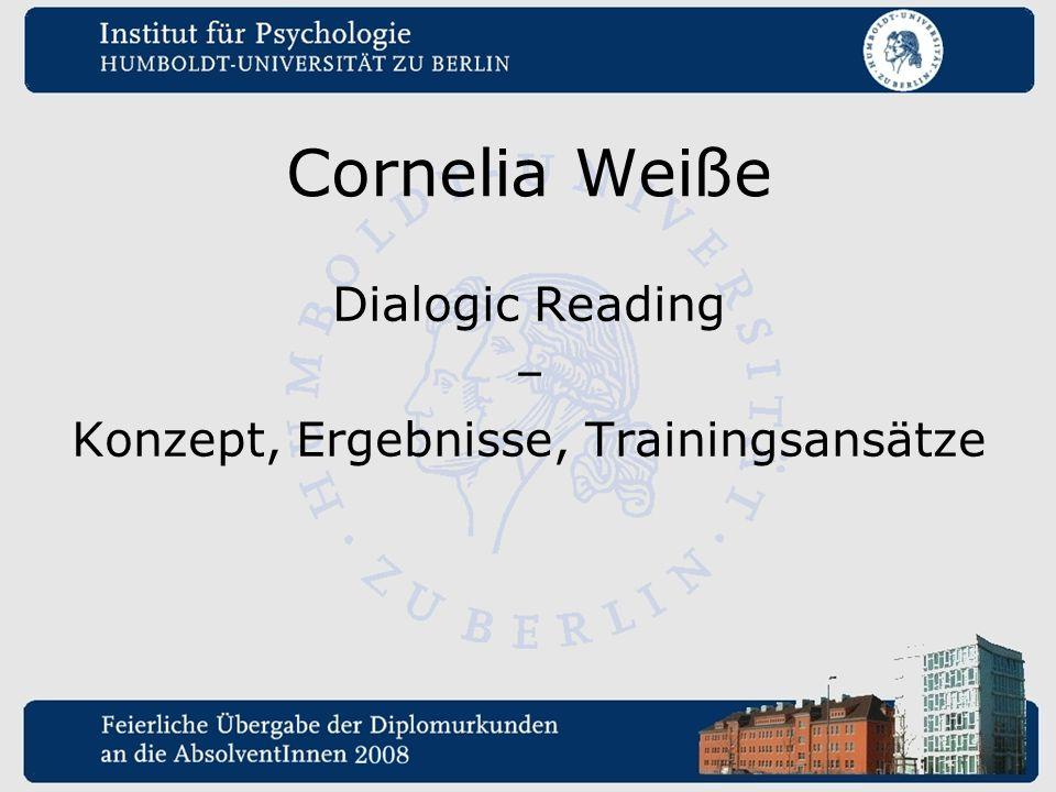 Cornelia Weiße Dialogic Reading – Konzept, Ergebnisse, Trainingsansätze
