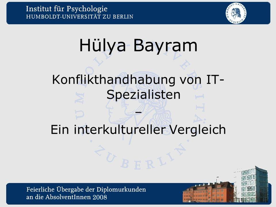 Hülya Bayram Konflikthandhabung von IT- Spezialisten – Ein interkultureller Vergleich