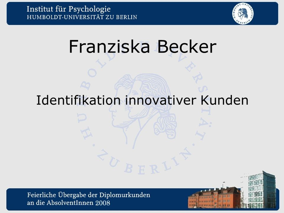 Franziska Becker Identifikation innovativer Kunden