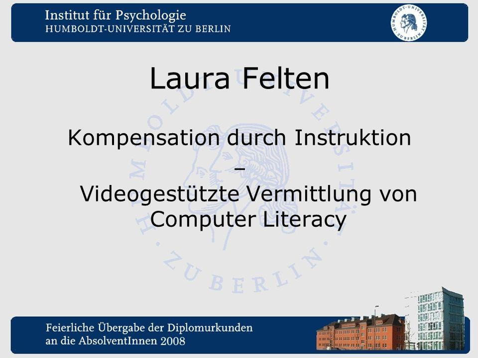 Laura Felten Kompensation durch Instruktion – Videogestützte Vermittlung von Computer Literacy