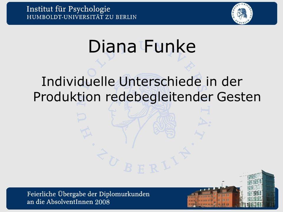 Diana Funke Individuelle Unterschiede in der Produktion redebegleitender Gesten