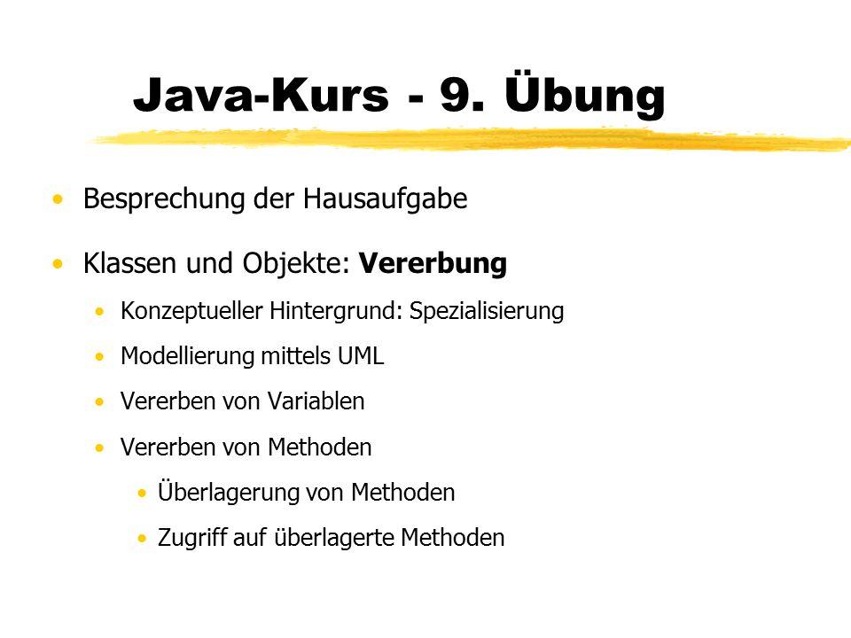 Java-Kurs - 9.