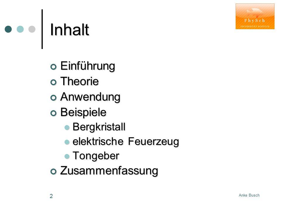 Anke Busch 13 Piezolautsprecher - Funktionsweise -