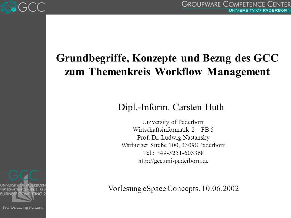 Begriffe  Geschäftsprozess. Workflow.