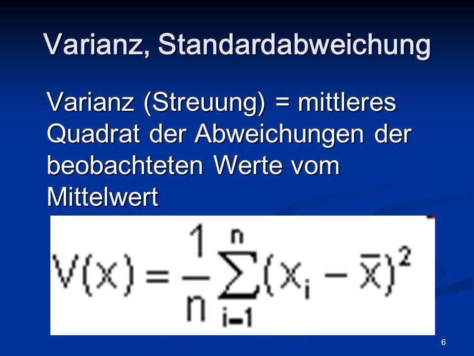 7 Varianz, Standardabweichung DichtenDichten zweier normalverteilter Zufallsvariablen mit unterschiedlichen Varianzen.