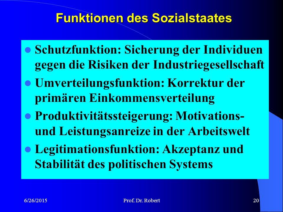 """6/26/2015Prof. Dr. Robert19 Sozialstaat und Grundgesetz """"Die Bundesrepublik ist ein demokratischer und sozialer Bundesstaat."""" (Art. 20 Abs. 1 Satz 1)"""