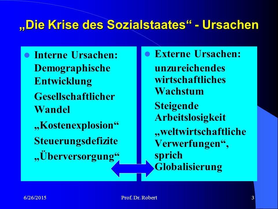 6/26/2015Prof. Dr. Robert2 und Globalisierung Sozialstaat GRUNDKURS II