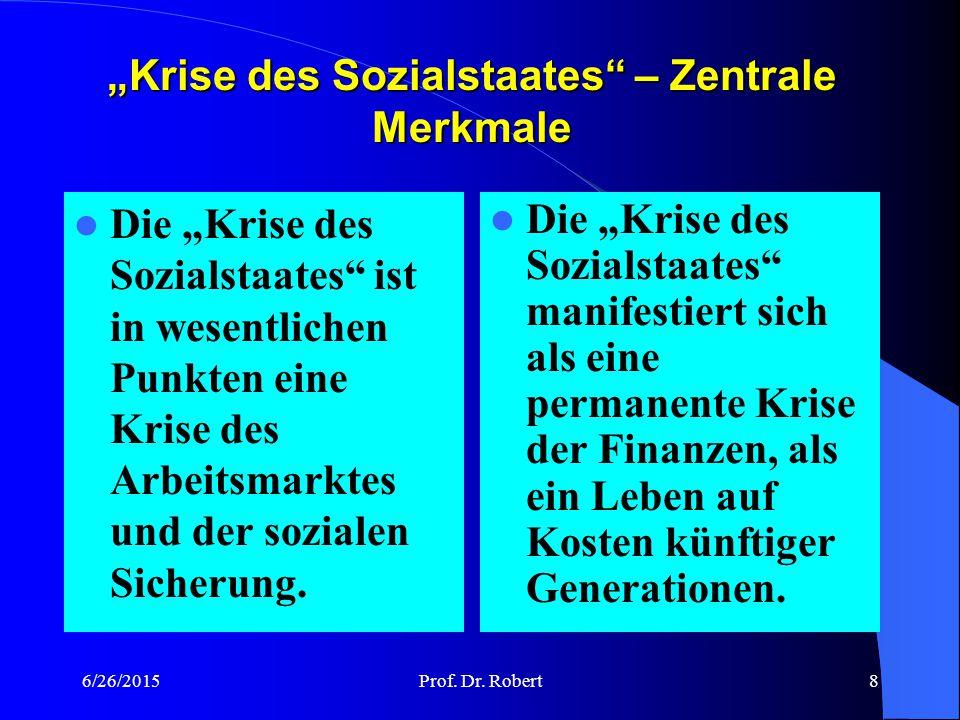 """6/26/2015Prof. Dr. Robert7 """"Krise des Sozialstaates"""" und Globalisierung Die Existenz eines Wirkungszusammenhangs zwischen Globalisierung und Sozialsta"""