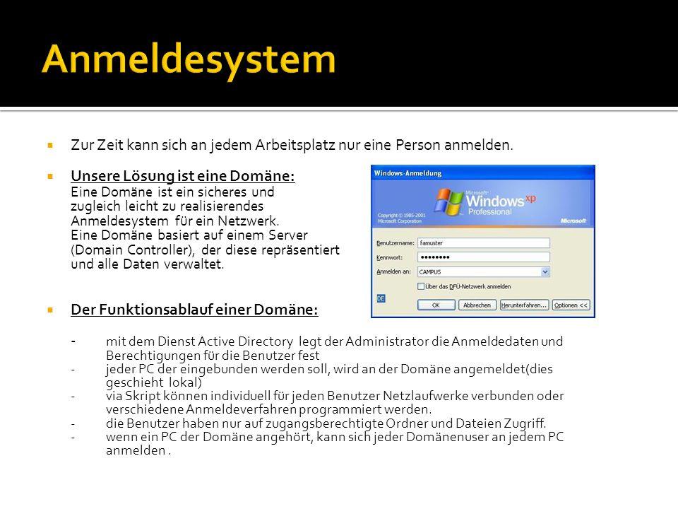  Die Verzeichnisse werden über die Anmeldeskripte des DC (domain controller bzw.