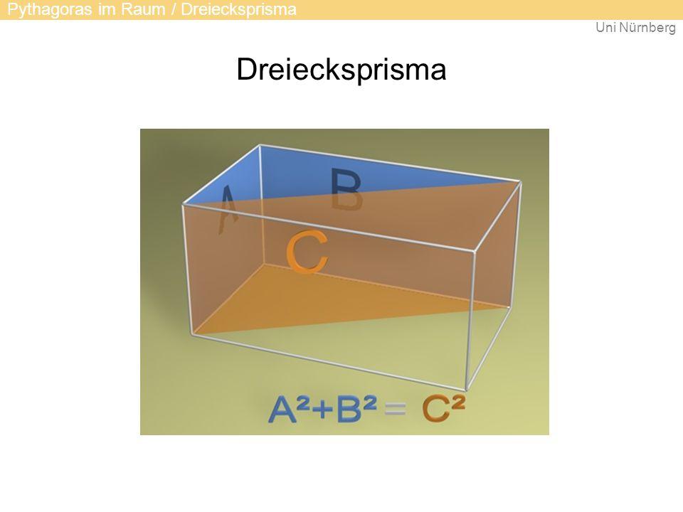 Uni Nürnberg Dreiecksprisma Pythagoras im Raum / Dreiecksprisma