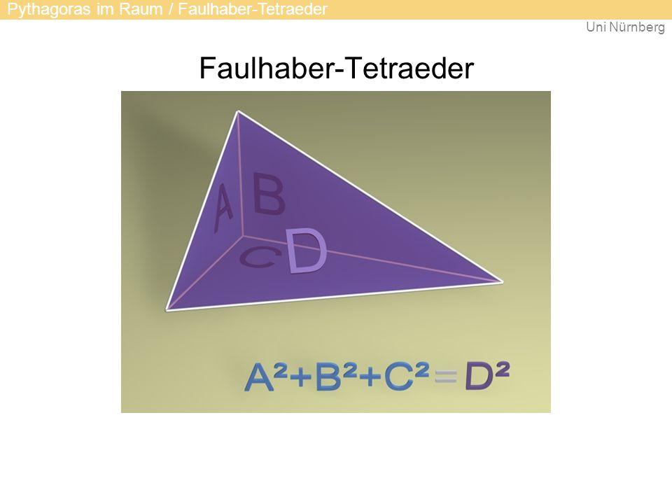 Uni Nürnberg Faulhaber-Tetraeder Pythagoras im Raum / Faulhaber-Tetraeder
