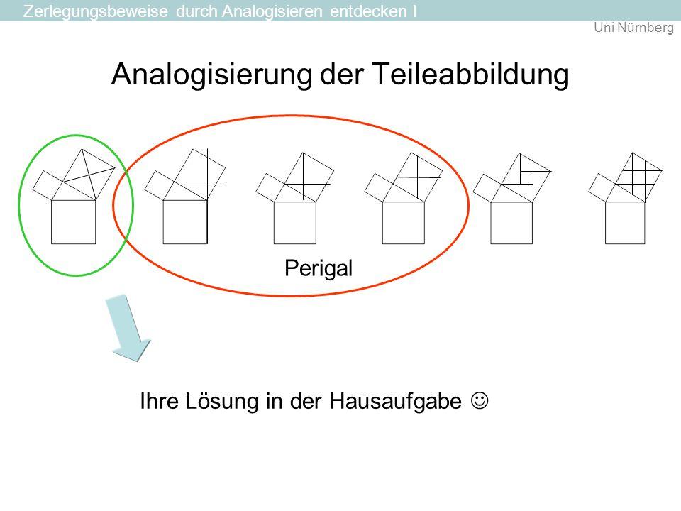 Uni Nürnberg Analogisierung der Teileabbildung Zerlegungsbeweise durch Analogisieren entdecken l Perigal Ihre Lösung in der Hausaufgabe