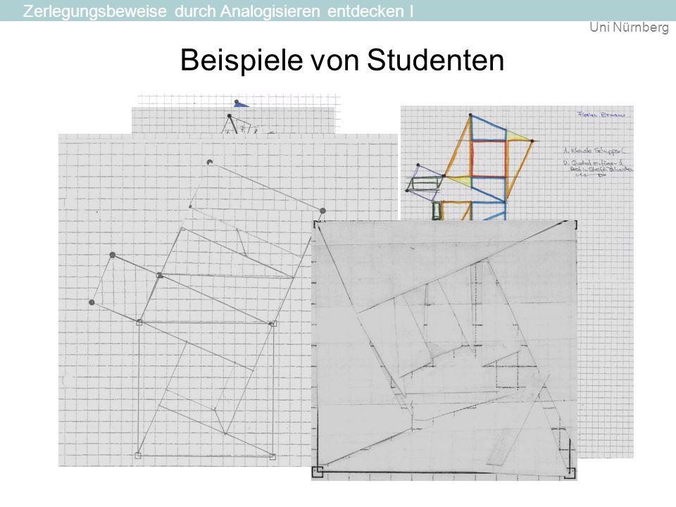 Uni Nürnberg Beispiele von Studenten Zerlegungsbeweise durch Analogisieren entdecken l