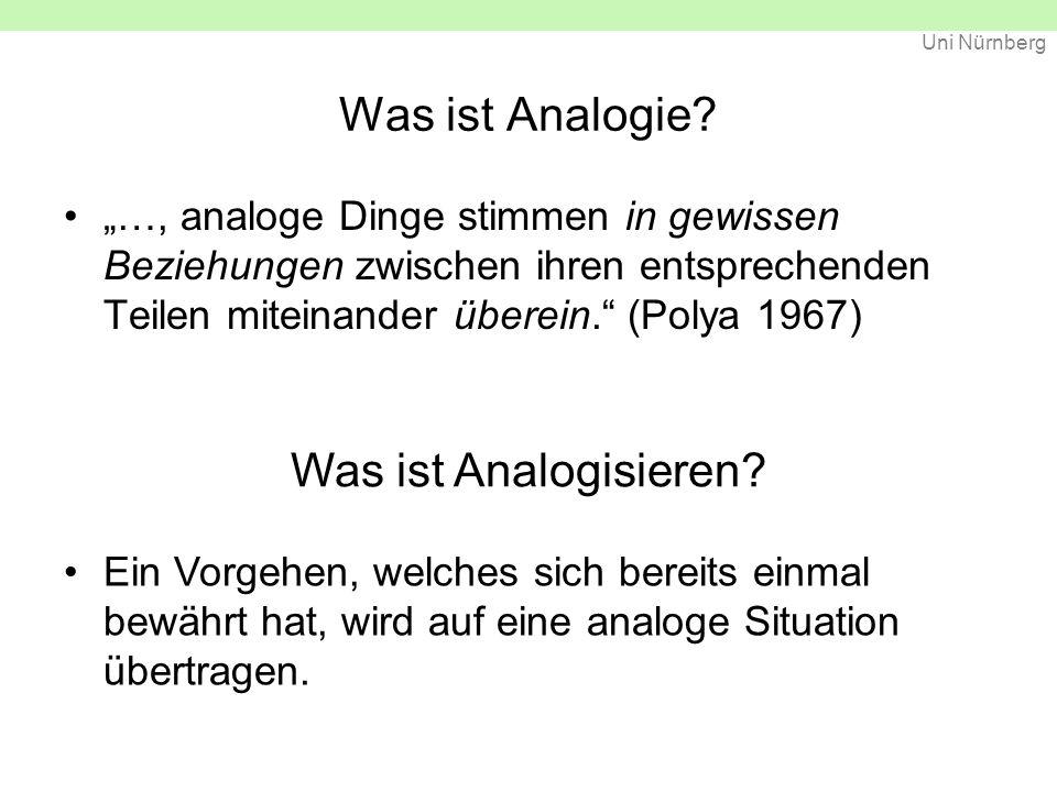 Uni Nürnberg Was ist Analogie.