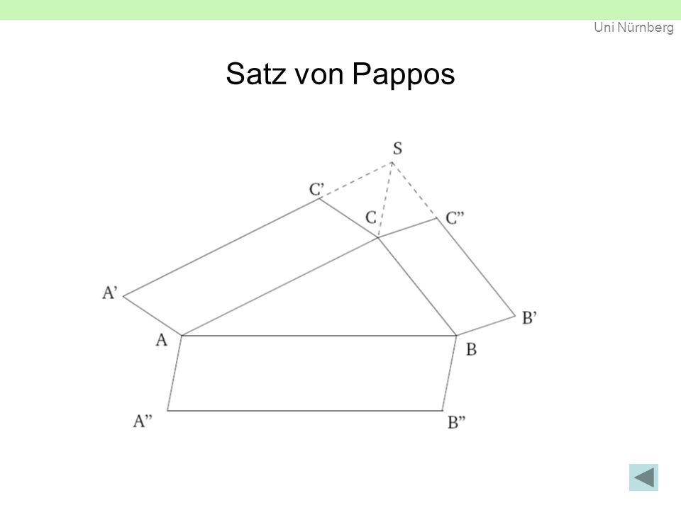 Uni Nürnberg Schiefes Tetraeder (Beweis) Pythagoras im Raum / Schiefes Tetraeder C² = A² + C'²D² = A² + D'² B² = A² + C'² + D'² Faulhaber Dreiecksprisma C² + D² = 2A² + C'² + D'² A² + B² = 2A² + C'² + D'²