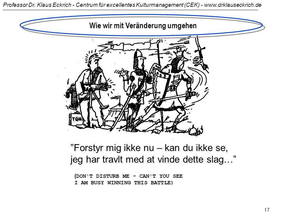 Professor Dr. Klaus Eckrich - Centrum für excellentes Kulturmanagement (CEK) - www.drklauseckrich.de 16 Wer vom Wandel erfasst wird... 1970 1980 1990