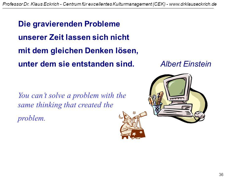Professor Dr. Klaus Eckrich - Centrum für excellentes Kulturmanagement (CEK) - www.drklauseckrich.de 35 Was können Sie tun, um Menschen zu helfen, aus