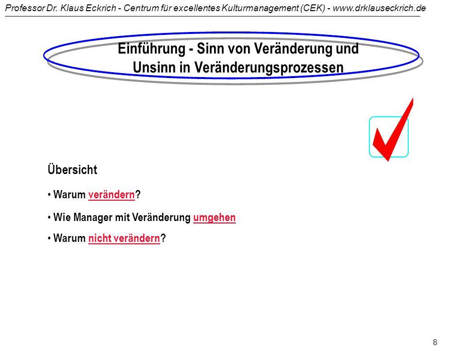 Professor Dr. Klaus Eckrich - Centrum für excellentes Kulturmanagement (CEK) - www.drklauseckrich.de 7 Links http://www.brainguide.de http://www.pro-m