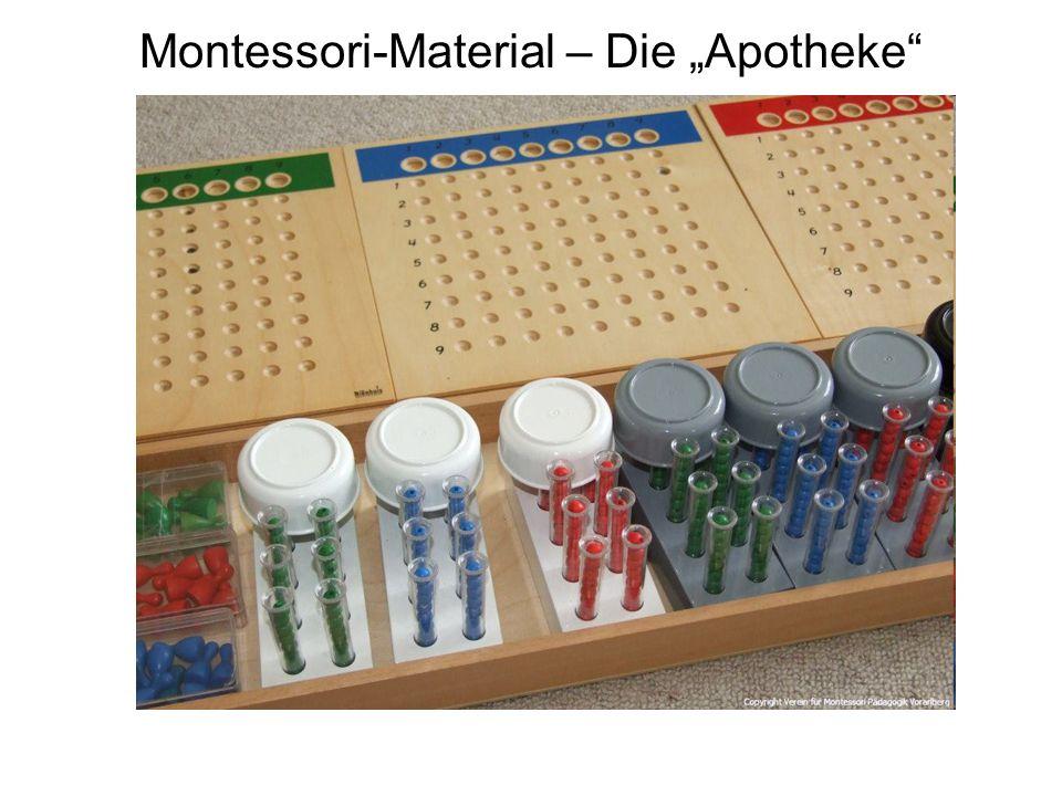 "Montessori-Material – Die ""Apotheke"