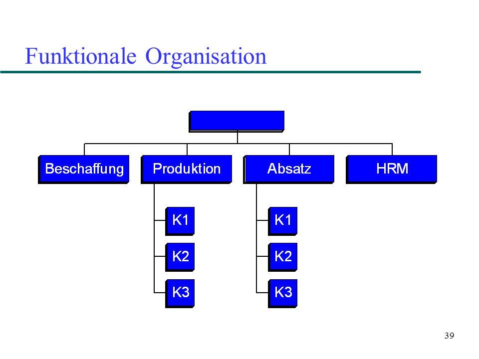 39 Funktionale Organisation