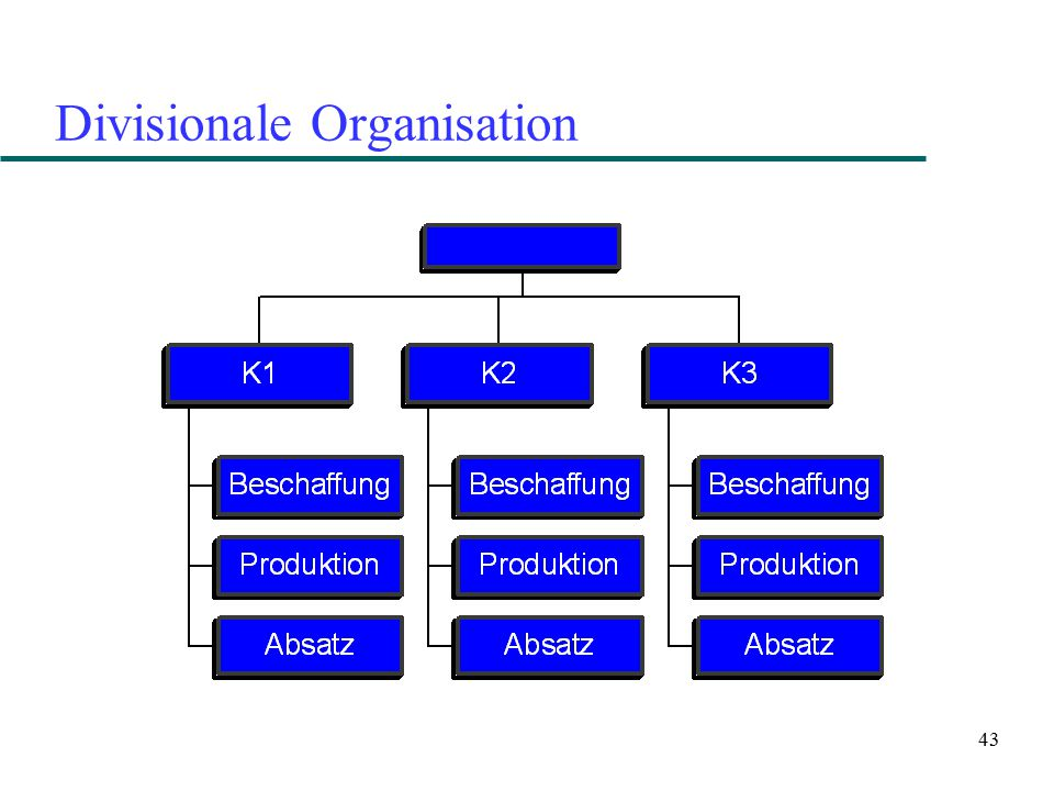 43 Divisionale Organisation